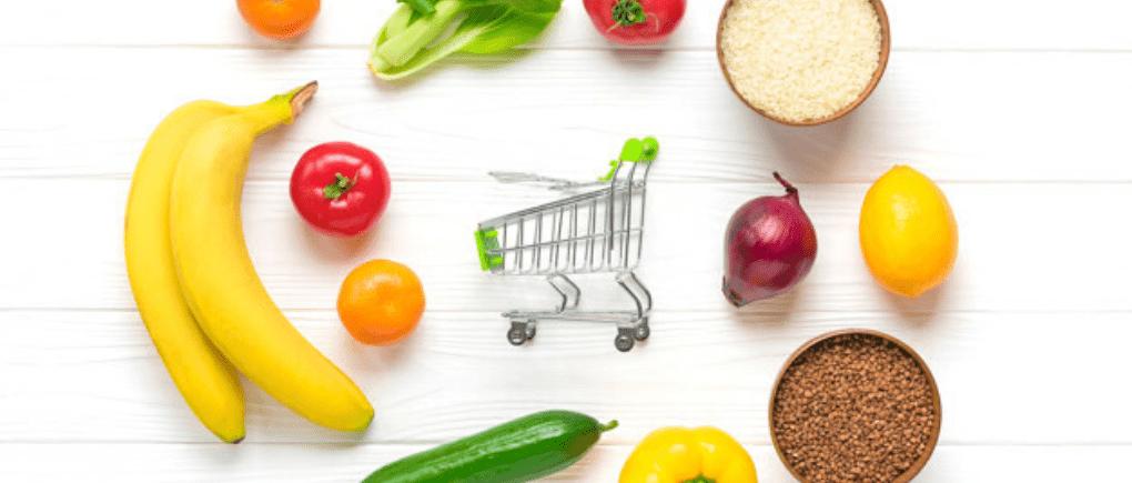 Realiza compras de comestibles en línea